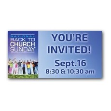 Back To Church Sunday Banner