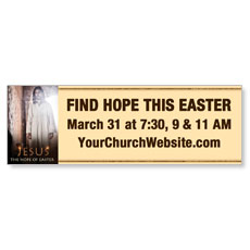 Jesus Hope of Easter Banner