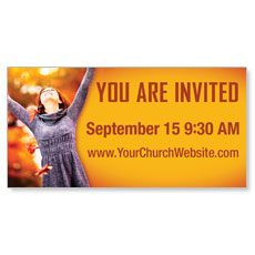 You're Invited Fall Banner