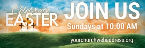 easter landscape banner church banners outreach marketing
