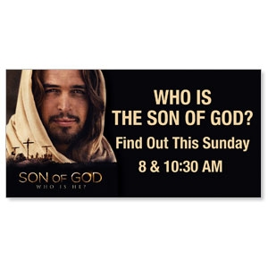Son of God: Who is He? 4 x 8 ImpactBanners