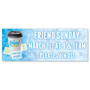 Friend Sunday Coffee Banners