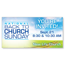Back to Church Sunday 2014 Banner