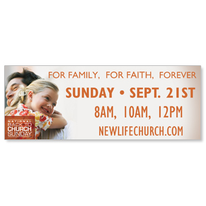 Family Faith Hug Banners