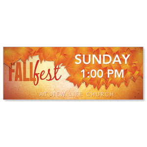 Fall Fest Orange Banners