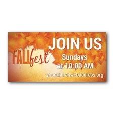 Fall Fest Orange Banner