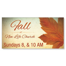 Fall Logo Card Banner