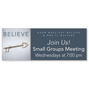 Believe Now Live The Story 3 x 8 ImpactBanners