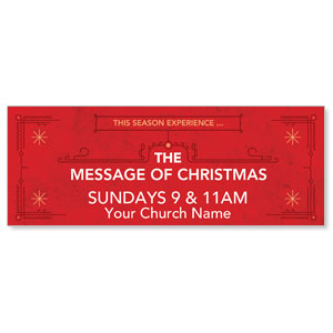 The Message of Christmas Banners