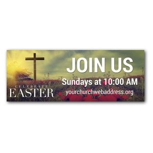 Celebrate Easter Cross 3 x 8 ImpactBanners