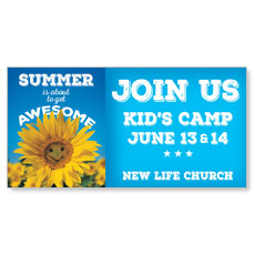 Summer Outdoor Church Banner