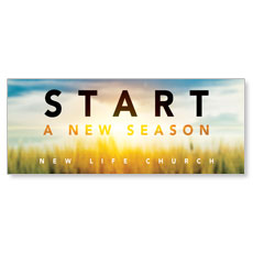 New Season Sunrise Banner