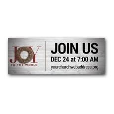 Joy Twig Wreath Banner