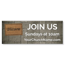 WelcomeOne Welcome Mat Banner