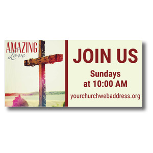 Amazing Love Cross Banners