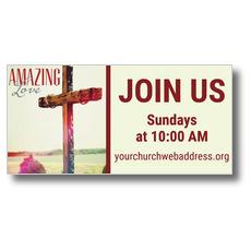 Amazing Love Cross Banner