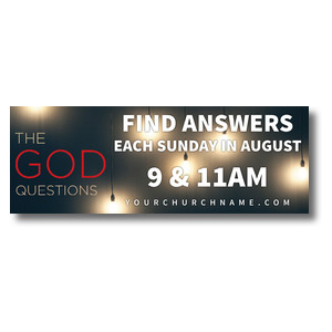 God Questions - 3 x 8 ImpactBanners
