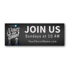 Back to Church Sunday: Nows the Time Banner