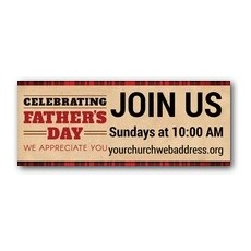Father's Day Plaid Banner