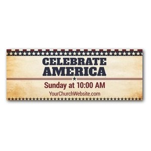 America Stars and Stripes - 3 x 8 ImpactBanners