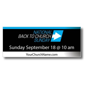 Back to Church Sunday Arrow Banners