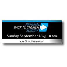 Back to Church Sunday Arrow Banner