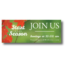Season Red Leaves Banner