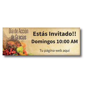 Thanksgiving Spanish Banners