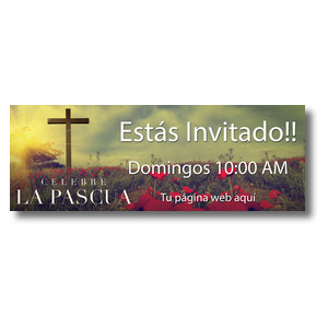 Celebrate Easter Cross Spanish Banners