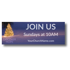 Discover Hope Bright Tree Banner