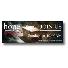 Hope Revealed Manger Banner