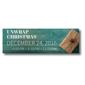 Unwrap Christmas Banners