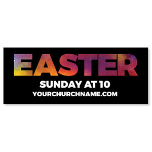 Easter Black and Bright - 3x8 ImpactBanners