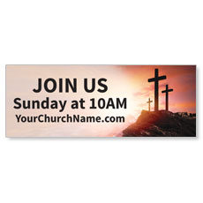 Easter Crosses Hilltop Banner