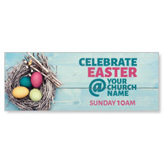 Egg Nest Easter Banner