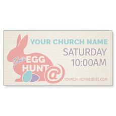 Bunny Egg Hunt Banner