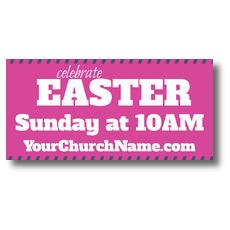 Celebrate Easter Pink Banner