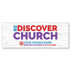 Brick Rediscover Church Banner
