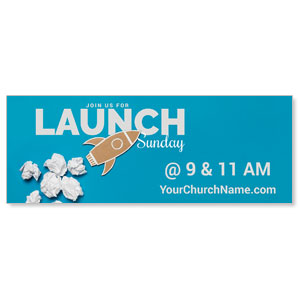 Paper Rocket Launch Banners
