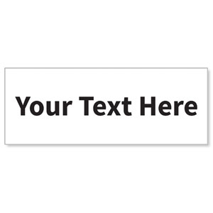 Your Text Here Black - 3x8 ImpactBanners