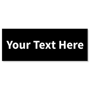 Your Text Here White - 3x8 ImpactBanners