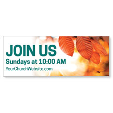 Orange Leaves Invited Banner