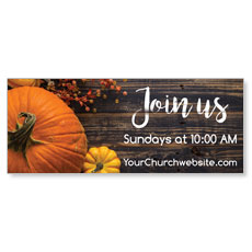 Pumpkins Youre Invited Banner