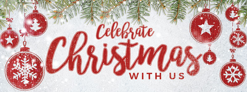 celebrate christmas red banner church banners outreach marketing