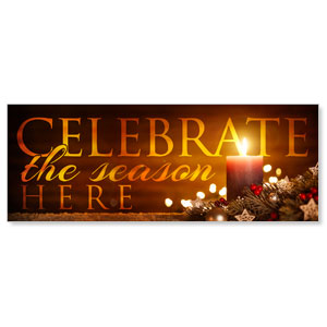 Celebrate The Season Candle Banners