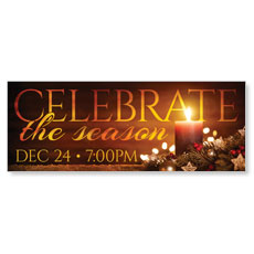 Celebrate The Season Candle Banner