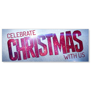 Christmas At Red Glitter - 3x8 Stock Outdoor Banners