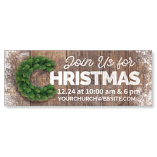 Christmas C Wreath Banner