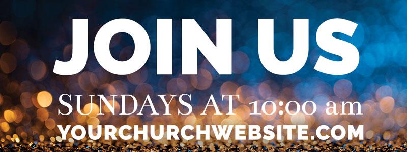 glitter sparkle christmas banner church banners outreach marketing