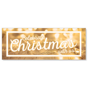 Gold Lights - 3x8 Stock Outdoor Banners